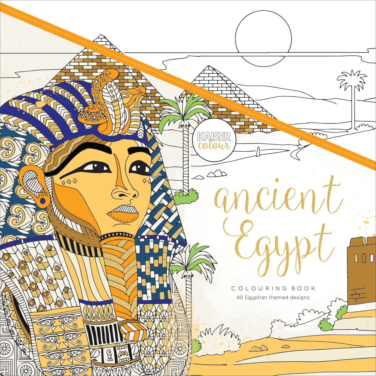 "Ancient Egypt - KaiserColour Perfect Bound Coloring Book 9.75""X9.75"""