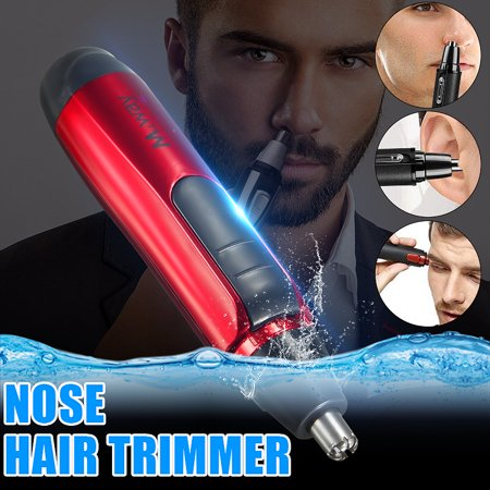 M.way Wet Dry Unisex Painless Stainless Steel Blade Men Women 's Fashion Personal Face Grooming Care Electric Nose Ear Face Nose Body Hair Removal Trimmer Shaver Clipper (Master Grooming Tools Stainless Steel)