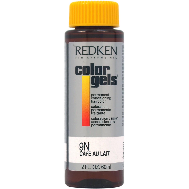 Redken Color Gels Permanent Conditioning Haircolor 9N, Cafe Au Lait, 2 Oz