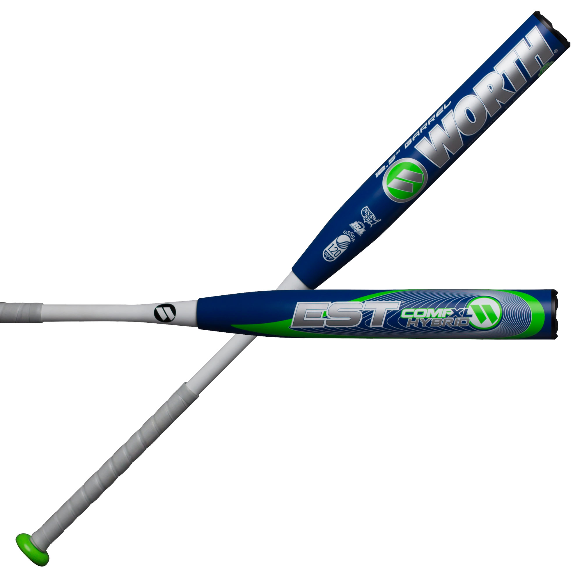 Worth EST Hybrid 12.5 Inch XL Comp USSSA W125EH Slowpitch Softball Bat