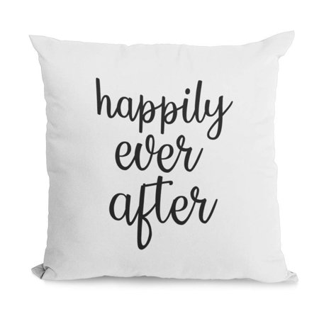 Happily Ever After Print (Bonnie Jeans Homestead Prints Happily Ever After Pillow Cover (White, 20x20) )