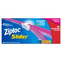 Ziploc Slider Storage Bags, Gallon, 60 ct