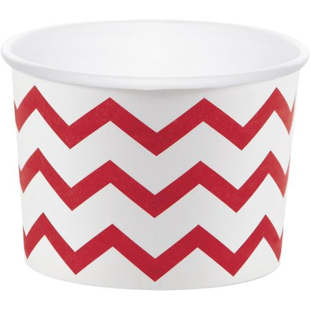 Creative Converting Classic Red Chevron Treat Cups, 6 ct - Treat Cups