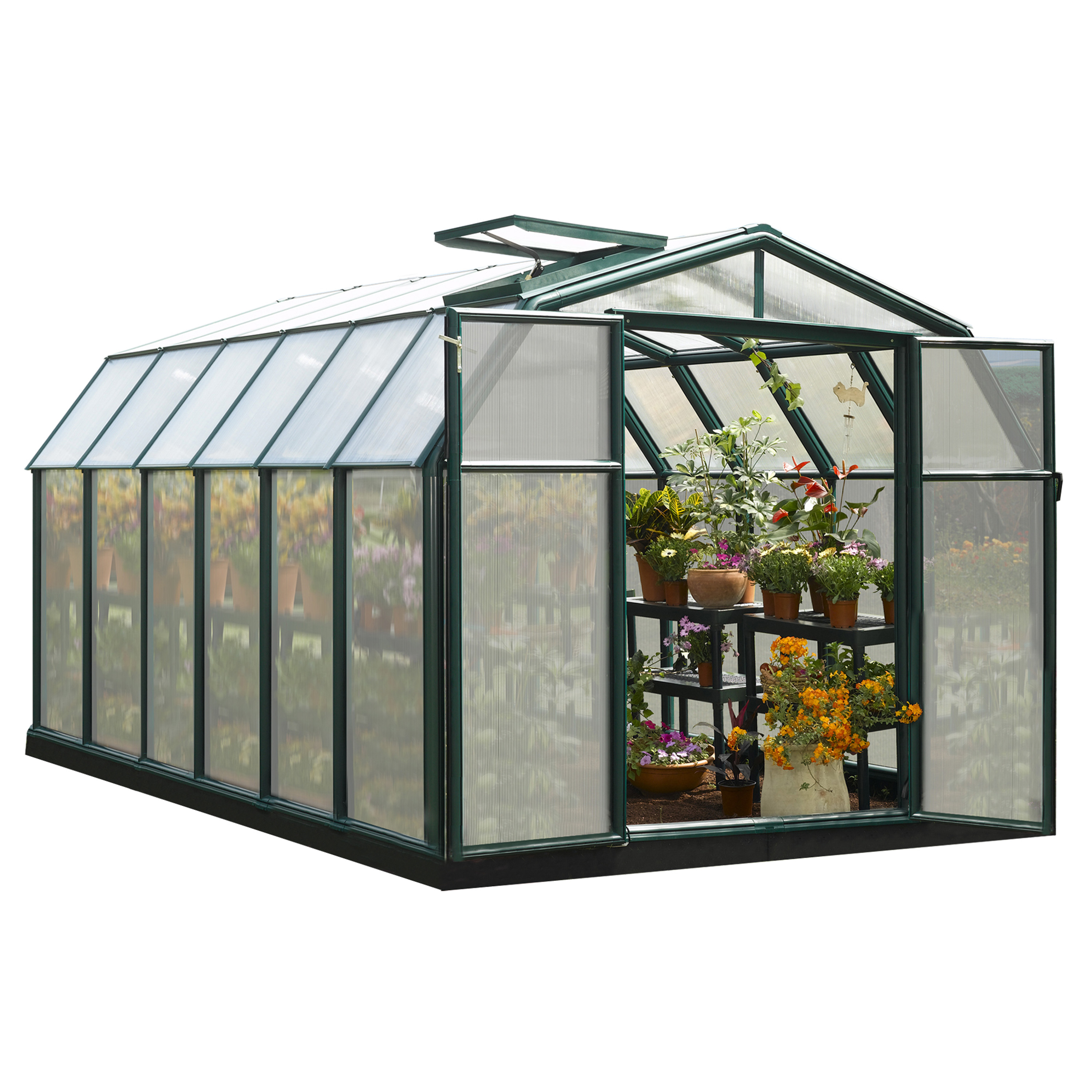 Rion Hobby Gardener 2 Twin-Wall Greenhouse, 8' x 12'