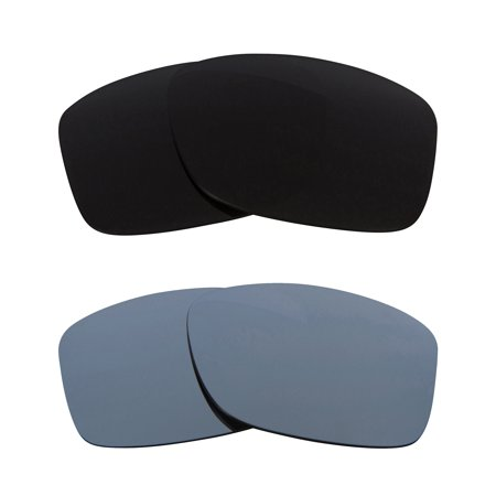 JUPITER SQUARED Replacement Lenses Polarized Black & Silver by SEEK fits OAKLEY