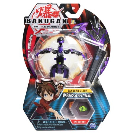 Bakugan Ultra, Darkus Serpenteze, 3-inch Collectible Action Figure and Trading Card, for Ages 6 and Up ()