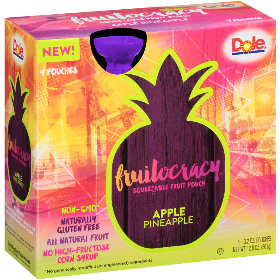 Fruitocracy Squeezable Fruit Pouch - Apple Pineapple, 3.2 oz. (4 pack)