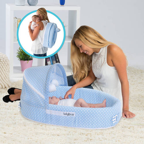 LulyBoo Baby Lounge To Go Travel Bed, Choose Your Color