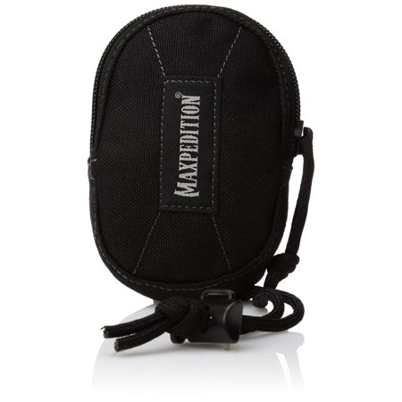 Coin Purse, Black, Handy pouch with paracord lanyard, silences keys By Maxpedition (Idp Bag)