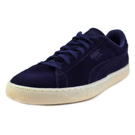 Puma Suede Classic Colored Youth Round Toe Suede Blue Sneakers