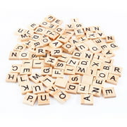 Mgaxyff 100pcs Early Educational Tiles Letters Alphabet Wooden Pieces Numbers Pendants Spelling Kids Children Toy