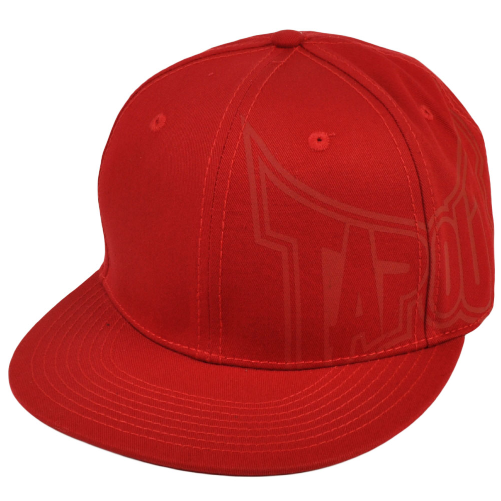 Tapout UFC MMA Caged Mixed Martial Arts Flat Bill Red Flex Fit One Size Hat Cap