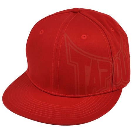 Ufo Cap - Tapout UFC MMA Caged Mixed Martial Arts Flat Bill Red Flex Fit One Size Hat Cap