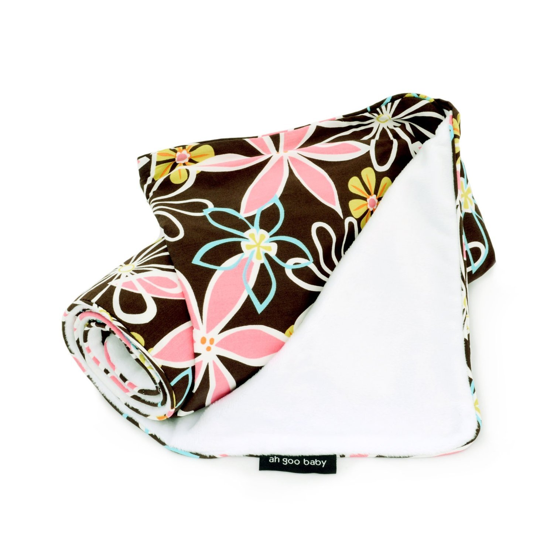 Image of Ah Goo Baby Stroller Blanket - Retro Daisy
