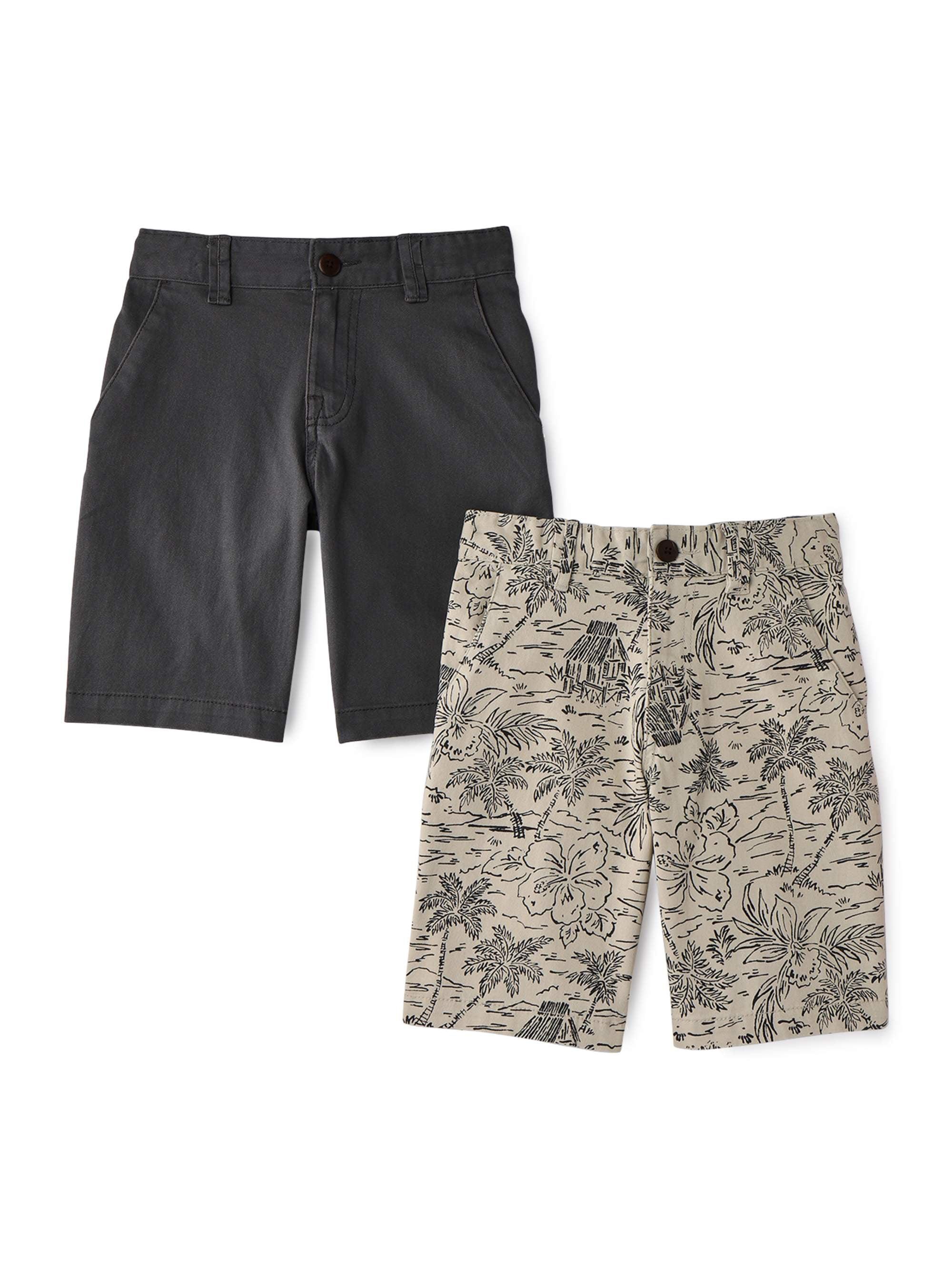 Boys Kids Shorts Fleece Summer Fashion Black Navy Grey