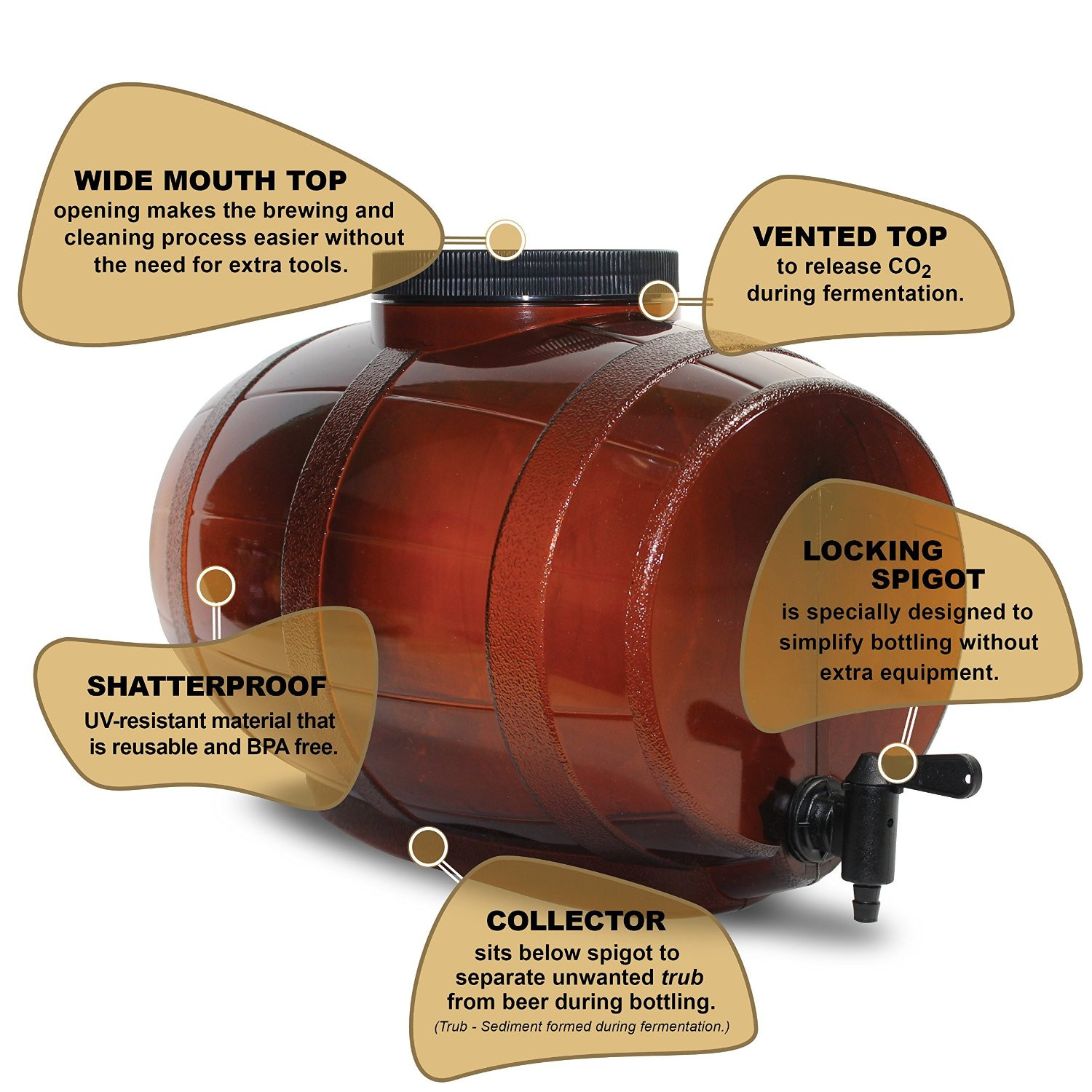 Mr. Beer Deluxe Edition 2 Gallon Homebrewing Craft Beer Making Kit ...