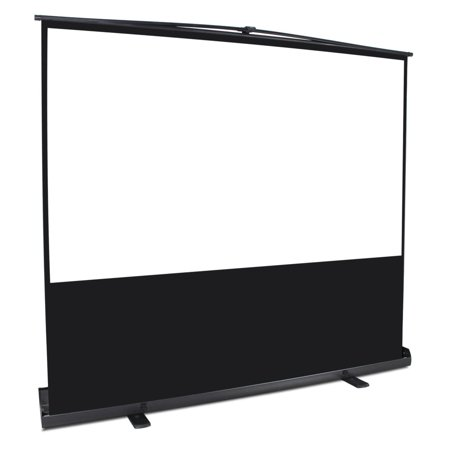"""GHP 72"""" Diagonal 16:9 Aspect Ratio Manual Pull-Up Matte White Projection Screen"""