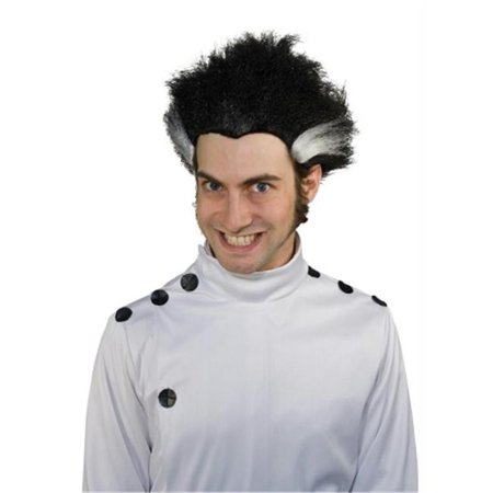 Costumes For All Occasions Mr178045 Mad Science Wig Bk W Wt - Mad Stripe