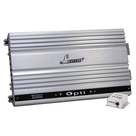 LANZAR OPTI2000D - Optidrive 2000 Watt Half Ohm Stable Mono Block Digital Competition Class (Best Competition Car Amps)