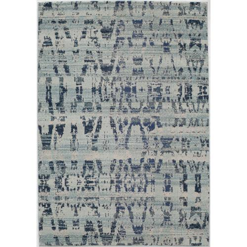 Momeni Abode Ocean Blue Power-Loomed Antique Rug (9'3 x 12'6) by Overstock