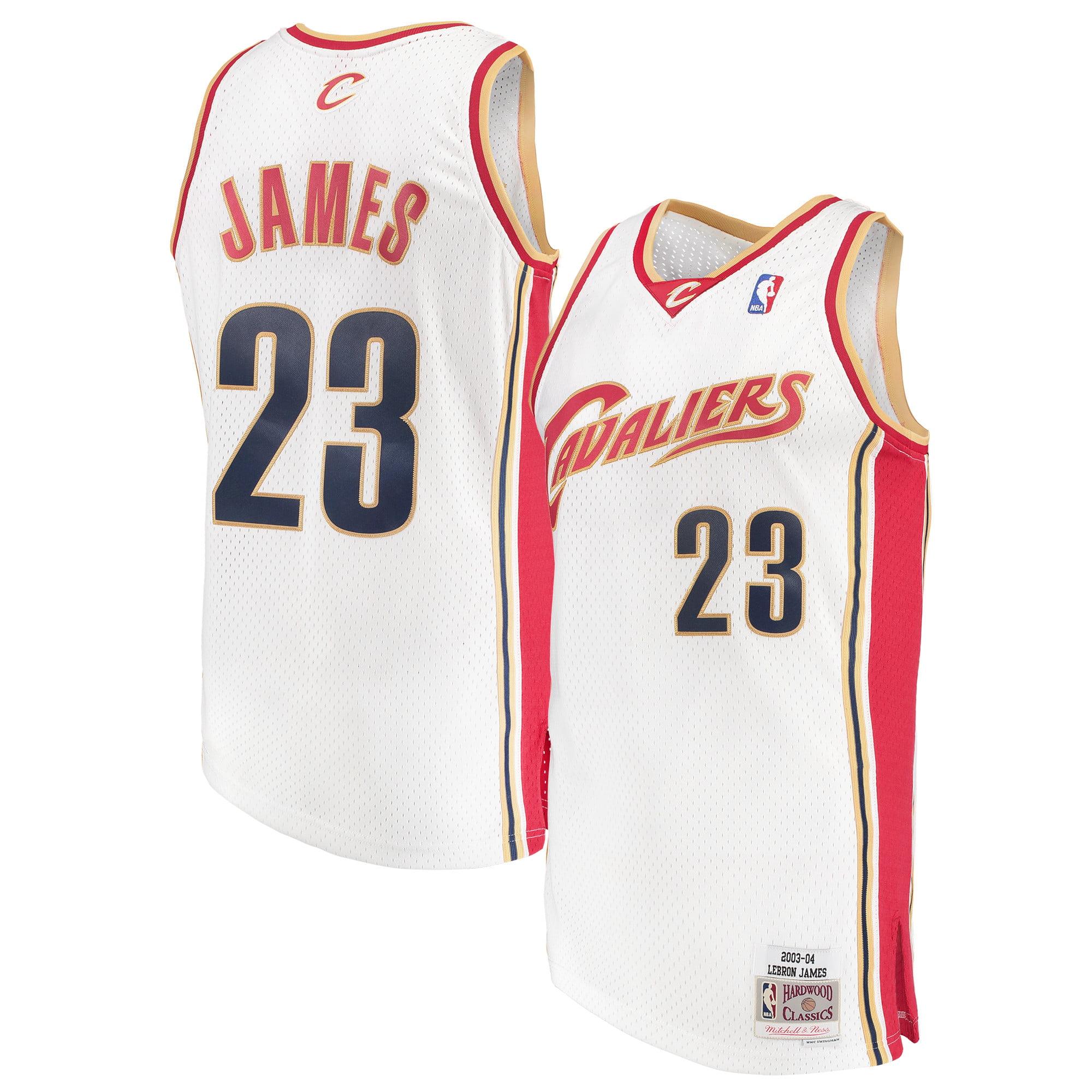 LeBron James Cleveland Cavaliers Mitchell & Ness Swingman Jersey - White