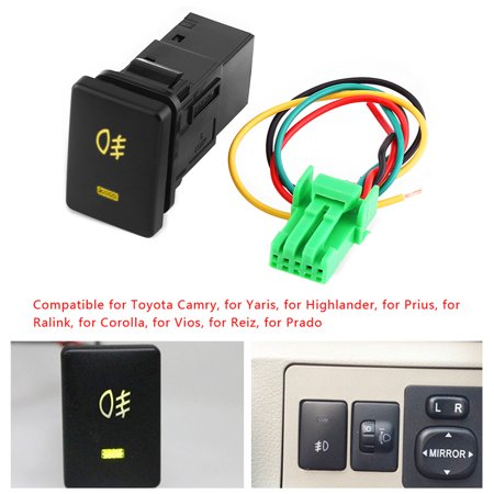 Ejoyous DC 12V 4 Wire Car Foglight Switch Fog Light On-Off Button For Toyota Yellow Indicator, Foglight Switch For Toyota,Foglight Switch - image 3 de 10