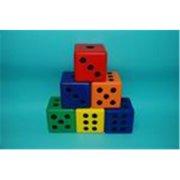 Everrich EVC-0174 Foam Dice Set - Set Of 6 colors - 3 Inch Cube