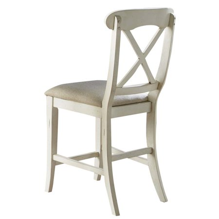 "Liberty Furniture Ocean Isle 24"" X Back Counter Stool in Bisque - image 2 de 9"