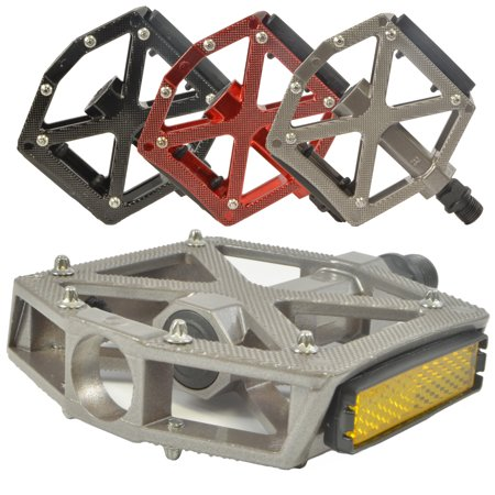 "Lumintrail PD-603B MTB BMX Road Mountain Bike Bicycle Platform Pedals Flat Alloy 9/16"" inch"