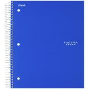 Five Star Spiral Notebook, 1 Subject, Wide Ruled, Cobalt Blue (72023)