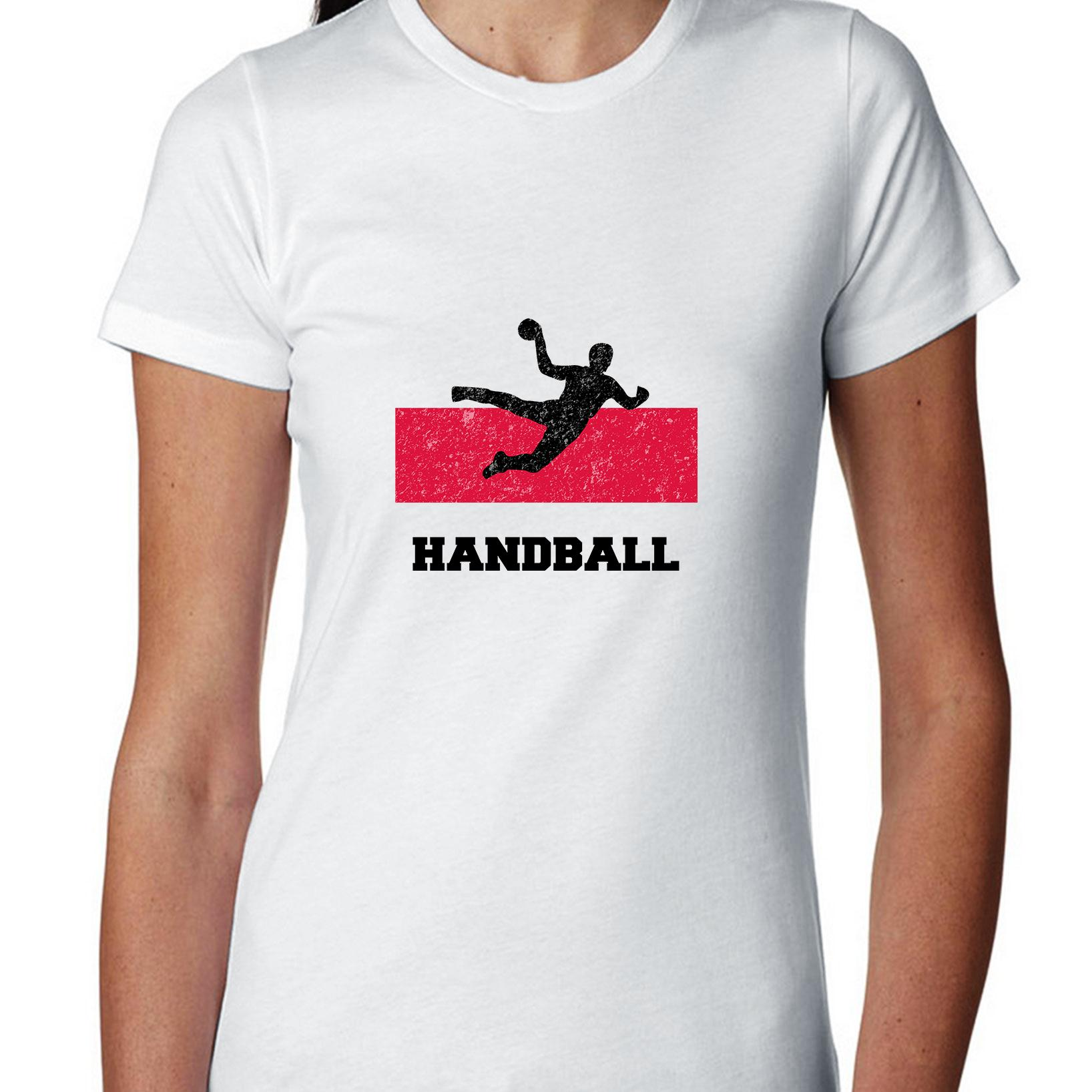 Poland Olympic - Handball - Flag - Silhouette Women's Cotton T-Shirt