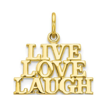 10k Yellow Gold Live Love Laugh (16x20mm) Pendant / Charm