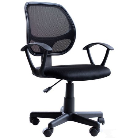 Zimtown Ergonomic Adjustable Swivel Computer Desk Chair Fabric Mesh Office Chair with Arms,Black