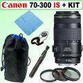 Canon EF 70-300mm f/4-5.6 IS USM Telephoto Zoom Lens   Deluxe Accessory Kit