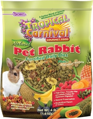 FM Brown's Tropical Carnival Pet Rabbit Food, 4 Lb by F.M. BROWN'S