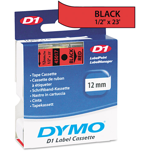 "Dymo Red 1/2"" x 23' Labeling Tape"