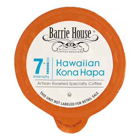Barrie House Medium-Dark Roast Single Serve Coffee for Keurig, Kona Hapa, 24 Ct