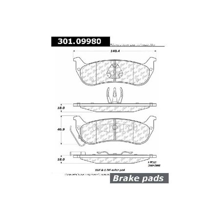 Go-Parts » 2004-2008 Chrysler Pacifica Rear Disc Brake Pad