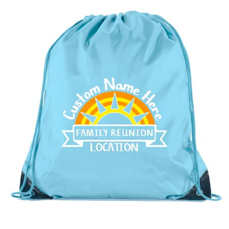 Sun set with Custom Name and Date - Family Reunion Party Favor Bags