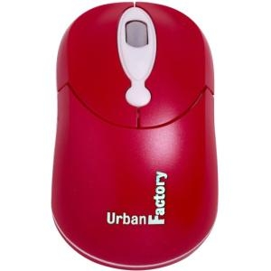 CRAZY MOUSE RED OPTICAL USB WIRED MOUSE 800DPI