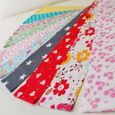 30pcs Flower Dot Stripe Cotton Cloth Diy Sewing Patchwork Quilting Doll Cloth Handmade Needlework Fabric - image 8 de 9