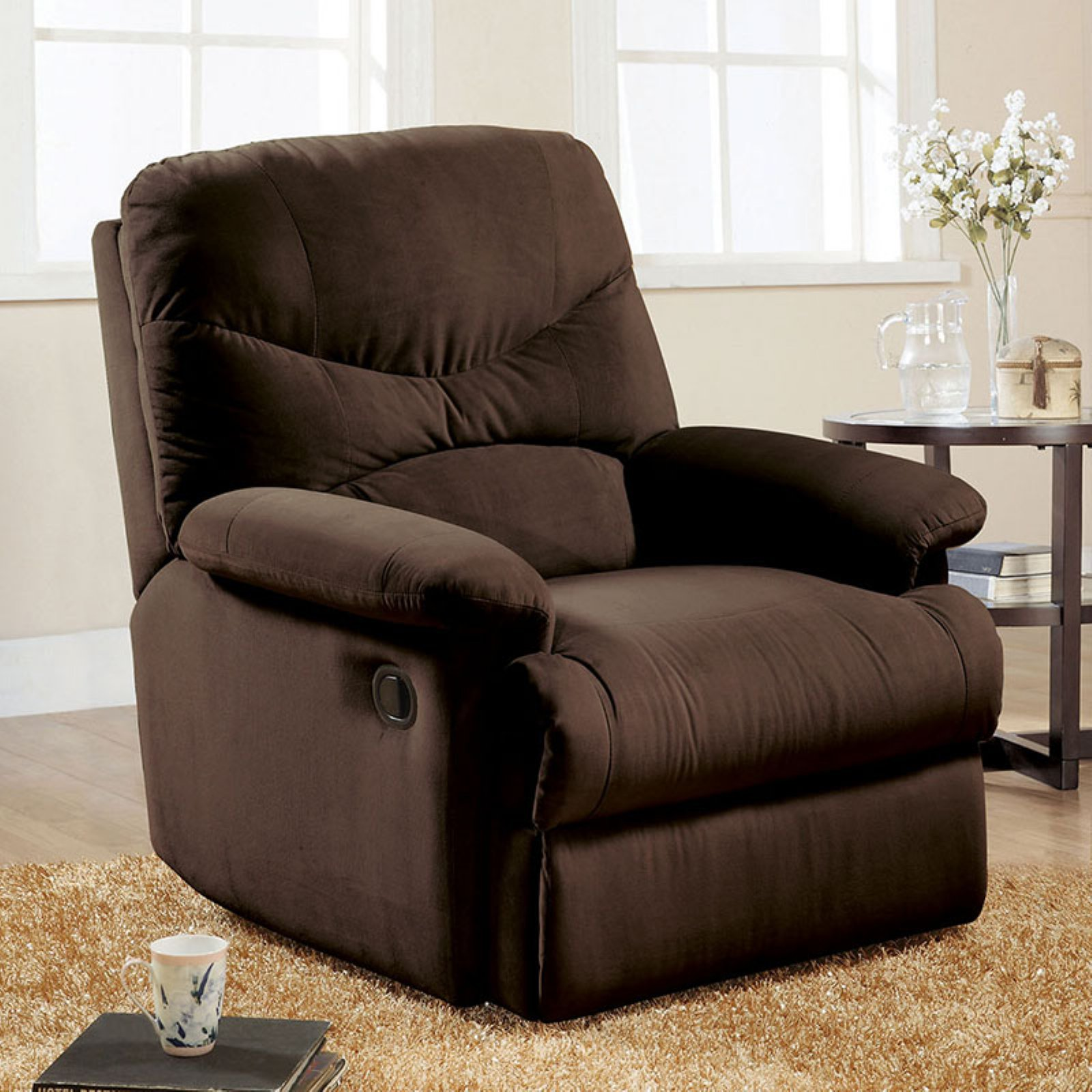 ACME Arcadia Glider Recliner, Chocolate Microfiber by Acme Furniture