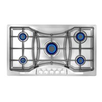 """Empava 36"""" 5 Italy Sabaf Burners Gas Stove Tops Gas Cooktop Stainless Steel NG/LPG Convertible EMPV-36GC888"""