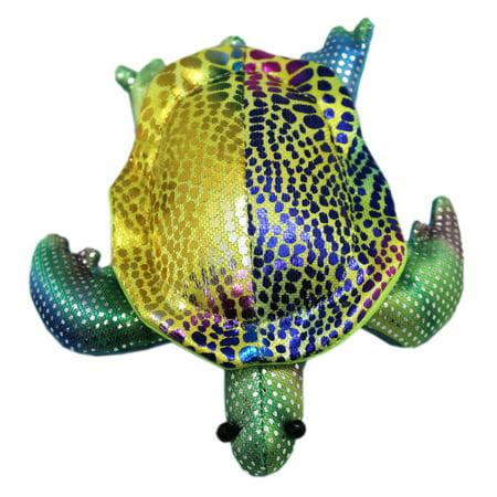 Shimmering Sea Life Spotted Rainbow Bean Bag Sea Turtle