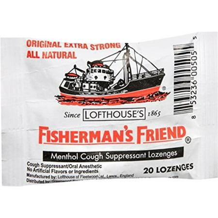 6 Pack Fisherman's Friend Menthol Cough Suppressant Natural 20 Lozenges (Best Natural Cough Suppressant)
