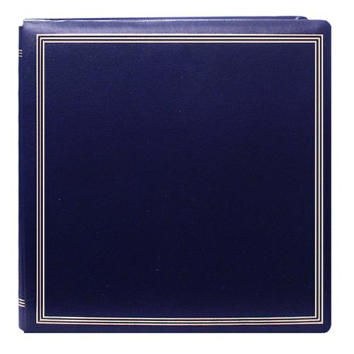 Pioneer Photo Albums Pioneer Postbound Deluxe Boxed Navy Leatherette Cover with 2 bonus refill packs