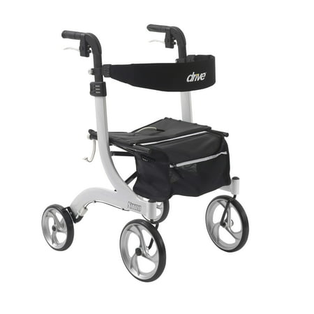 Drive Medical Nitro Euro Style Walker Rollator  White