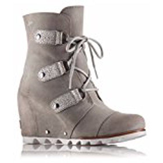 4244d06db006 ... Sorel Women s Joan Of Arctic Wedge Mid Boot Crafted of waterproof  full-grain leather Tone-on-tone lace stays Removable molded EVA footbed  with heel cup ...