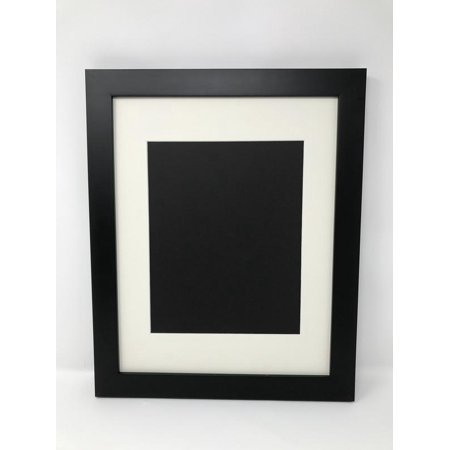 18x24 125 Solid Wood Black Picture Frame With Cream Signature Mat