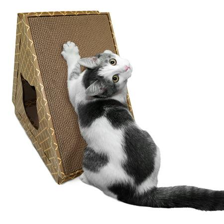 FurHaven Pet Cat Scratcher | Tiger Tent Corrugated Cat Scratcher House with Catnip, - Tigers Tent